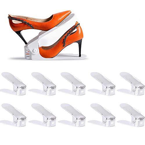 LOBKIN Organizadores Ajustables de Zapatos Organizador de Calzado para Ahorrar Espacio