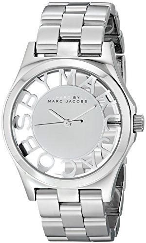 Marc Jacobs MBM3205 Damenarmbanduhr mit Edelstahlarmband, silberfarben/Grau