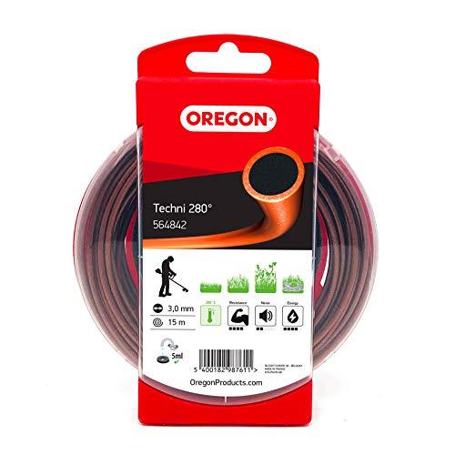 Oregon 564842 - Hilo de desbrozadora resistente al calor Techni 280 para maleza y vegetación densa