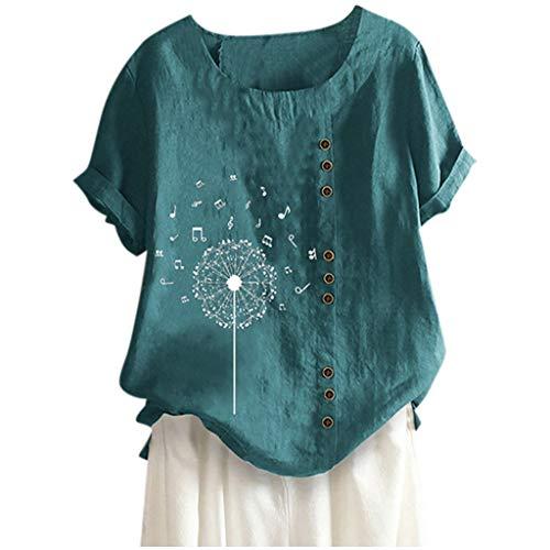 ELECTRI T Shirt Femme Col Rond Mode Casual Coloré LèVres Imprimer Manches Courtes T-Shirt Blouses Tops Grande Taille Tshirt Chic Tee Shirt Femme Ete DéContractéEs Haut