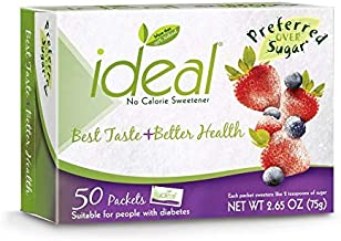 Ideal No Calorie Sweetener 50 Count (Pack of 12)