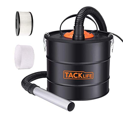 TACKLIFE Ash Vacuum, 5 Gallon 800W Fireplace Vacuum with Blow Function, 1.2M Metal Hose, 5M Power Cable, Suitable for Fireplace, Log Burners, Pellet Stoves-PVC03A