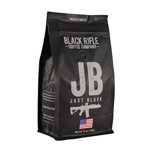 Just Black Medium Roast Ground Coffee by Black Rifle Coffee Company | 12 oz Bag of Premium Gourmet Specialty Coffee | Perfect Coffee Lovers Gift