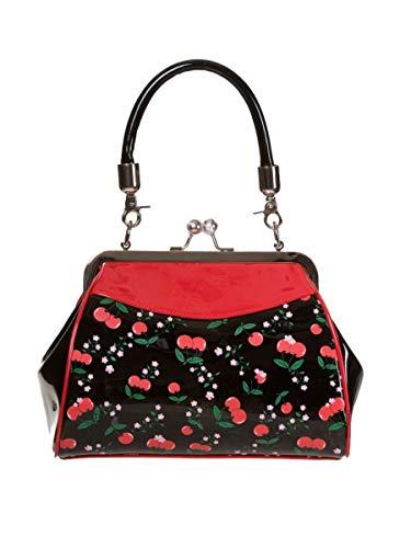 Lost Queen New Romantics Kisslock Vintage Cherry Blossom Handbag Purse