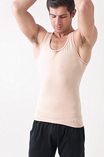 Yogamasti - Yoga-Achselshirts für Herren in Beige/ Skin, Größe M/L (40-42 EU)