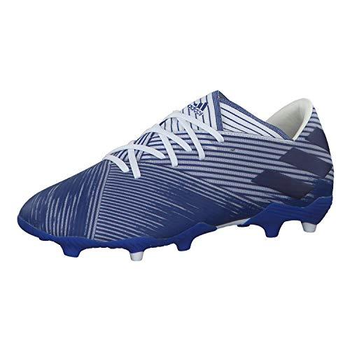 adidas Herren Nemeziz 19.2 Fg Fußballschuhe, Blau (FTWR Weiss/Team Königliches Blau/Team Königliches Blau), 48 EU