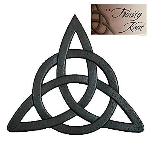 Abbey Gift Irish Trinity Knot Wall Hanging black, 11.8 x 1.6 x 13.2