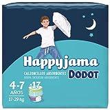 Dodot HappyJama - Pañales Niño 4 - 7 Años, 17 Unidades, 17 - 29 kg, Protección anti-fugas Durante La Noche
