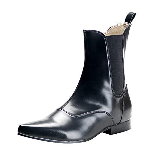 Demonia Veggie Ankle Boots Brogue-02 schwarz Gr.45