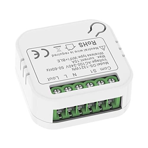 silverdiamond 10A Mini WiFi Interruptor Inteligente Luz LED Módulo De Vida Inteligente Compatible con APLICACIÓN De 2 Vías Temporizador De Relé De Voz Google-Home Alexa Tuya