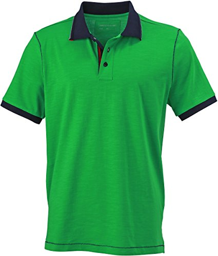 James & Nicholson, polo da uomo, modello urban Verde fern-green/navy