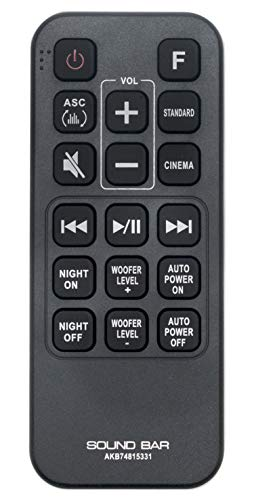 AKB74815331 Replaced Remote fit for LG Soundbar Wireless Subwoofer SH2 SH4 SPH5B-W SH4D SPJ4B-W SHC4 SJ3 SJ4 MA5
