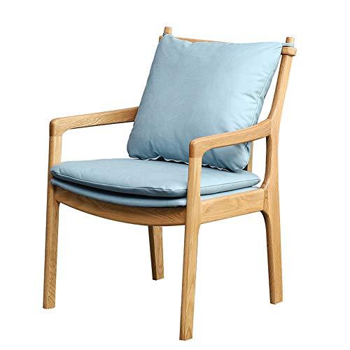 Mesa y silla de comedor de madera maciza de estilo europeo resistentes al desgaste muebles de sala de estar respaldo tocador silla hogar cocina comedor silla reposabrazos silla de café 85 * 54 * 56c