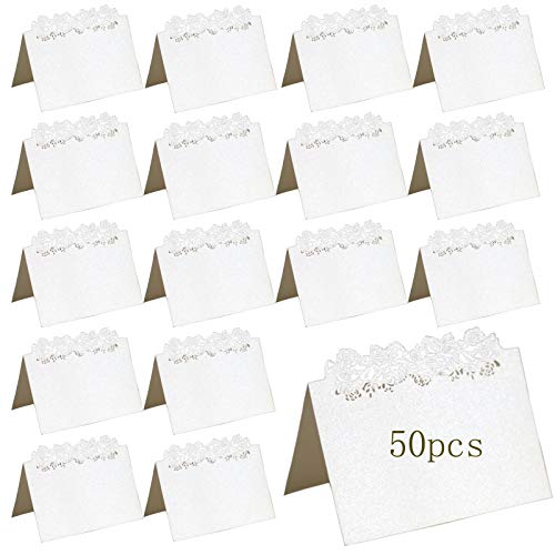 50 Pezzi Nome Segnaposto, Posti a Sedere di Nome di Ospiti Carta per Decorazione di Festa di Nozze, Tagliati al Laser Farfalla Segnaposto Vuoto, per Festa Compleanno Matrimonio Battesimo