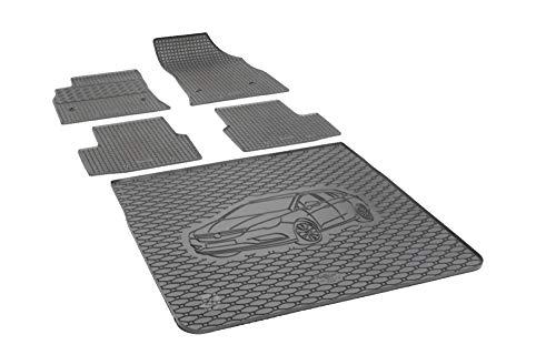Passende Gummimatten und Kofferraumwanne Set geeignet für Opel Astra K Sports Tourer ab 2015 EIN Satz + Gurtschoner