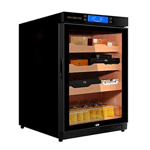 Juego para Fumar/Humidores 400 Cigar Cigar Thermoelectric Cigar Cooler Extra Grande Capacidad Cedro Estante de Madera Temperatura Ajustable Humedad Visible Humedad (Color: Negro, Tamaño: 60 * 61 * 8