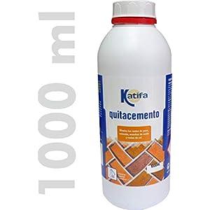 Katifa Quitacemento Antisalitre 1000 ml. Elimina restos de Yeso, Cemento, Manchas de óxido y restos de Cal en Suelos y fachadas. Penetra en Las Manchas eliminándolas facilmente.