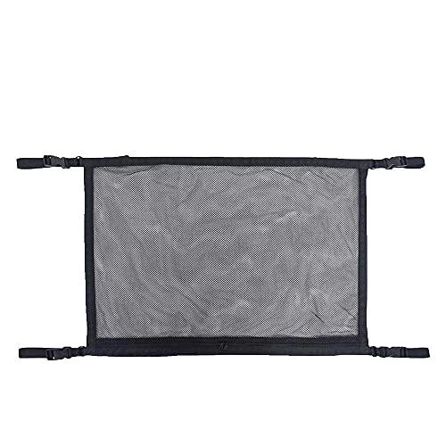 CJBIN Auto Gepäcknetz, Universal Autodach Aufbewahrungstasche zum 4 Dach Armlehnen, Aufbewahrungsnetz für SUV, Jeep, Van(70 * 50cm)