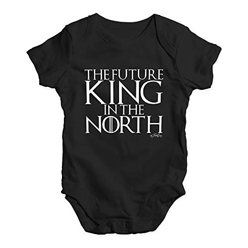 Twisted Envy Funny Bodysuits Baby Grow Onesie The Future King In The North Game Of Thrones Black 0-3 Months