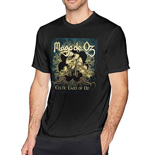 Mago De Oz T-shirt en coton avec col rond et manches courtes pour homme Noir - - 3XL