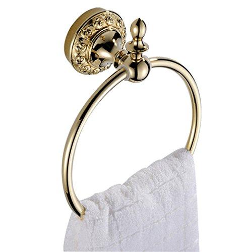 CASEWIND Antiguo Toallero Anilla o Barra Dorada / Soporte o Suspensión de Toallas para Baño Montaje en la Pared, Cobre Latón y Color Oro