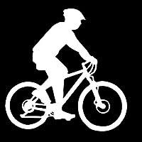 佑树-ゆうき 心 いちろう 15 CENTIMETRI * 15.2 CENTIMETRI眩しいBicicletta努力を要するCiclistiバイクOmbra VinlyデカルコマニアエレガンテDecorazioneオートステッカーネロ/アルジェントC27-0821 (Colore : Argento)