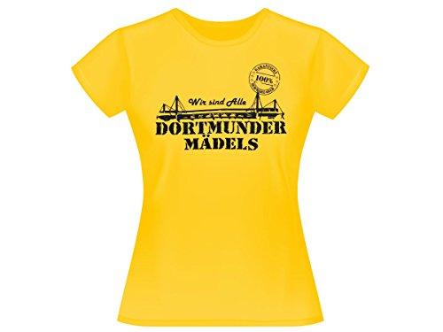 Alsino Dortmunder Mädels T-Shirt Dortmund Fanartikel Fanshirt Shirt 100% gelb (XL)