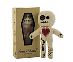 Hand stitched & embroidered. Made from 100% Cotton Muslin Cardboard Coffin Box printed with REAL Voodoo Vevé Symbols Set of 6 masterfully printed Spell Cards (Cleansing, Dreaming, Healing, Love, Protection and Success) Voodoo Doll is 7 inches tall - ...
