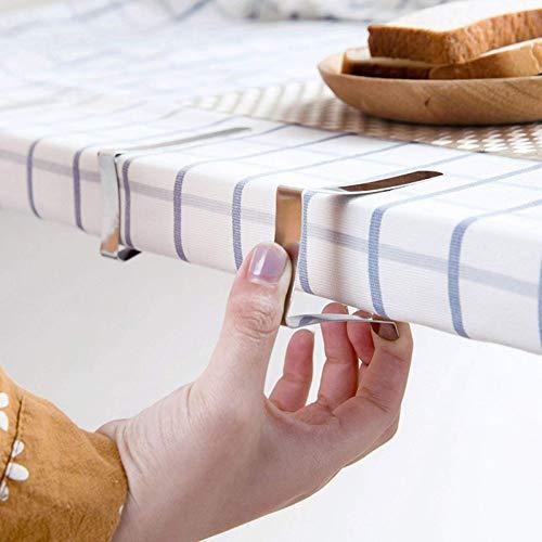 None/Brand 6PCS Edelstahl Tischdeckenklemmen Hochzeit Promenade Tischdecke Halter Clip Promenade/Rundbrett Stabile Clips