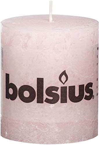Bolsius - Vela rústica, Cera de parafina, Color Rosa