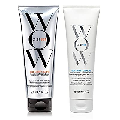 COLOR WOW Color Security Shampoo and Conditioner, Duo Set, Sulfate Free, Color Safe, 8.4 fl. oz.
