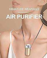 ミニポータブル空気清浄ゴールデンウェアラブル空気清浄ネックレスUSBエアークリーナー排除煙の臭い、悪臭、ダスト、ポレ