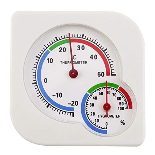 JeromKewin Mini-Innenthermometer, Hygrometer, Temperatur-/Luftfeuchtigkeitsmessgerät für Zuhause, Zimmer, Küche, mit Ständer, keine Batterie erforderlich