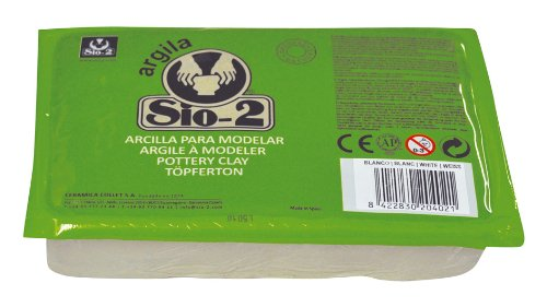 Sio-2 Argilla - Arcilla para cerámica (1,5 kg), color blanco
