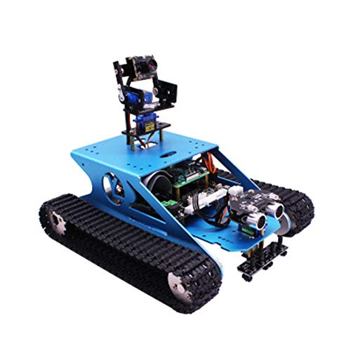 Raspberry Pi 4B-G1 Track Tank Smart Car, 5G WiFi Off Road Video Programming Robot DIY Kit(1GB, 2GB or 4GB),4G