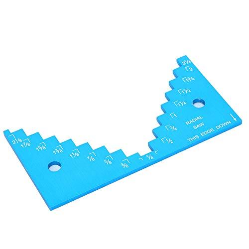 Medidor de paso de sierra de mesa medidor de profundidad de enrutador compacto portátil para carpintería accesorios de sierra de mesa herramientas de bricolaje suministros de sierra de mesa