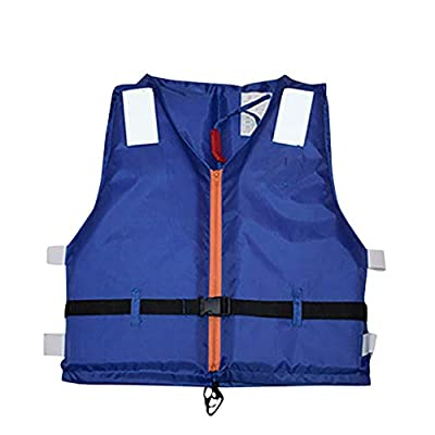Huilaibazo Adults Life Vest, Zipper Life Jackets for Women Men, Oxford Cloth Swimming Equipment for Watersports Kayaks Fishing Boat Buoyancy