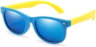 QPRER - Gafas De Sol,Azul Oscuro Bonito Espejo Degradado De Silicona Clásico Niña IR De Compras Calle Gafas De Sol Verano Niños Diariamente Al Aire Libre Gafas Niño Seaside Party UV Cumpleaños Regal