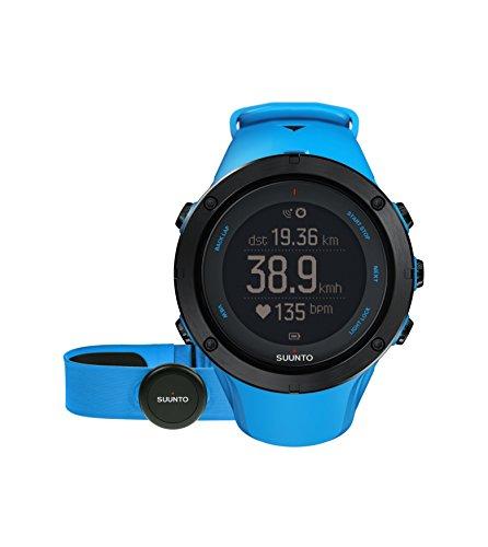 Suunto - Ambit3 Peak Sapphire HR - SS020673000 - Reloj GPS Multideporte + Cinturón de frecuencia cardiaca (Talla M) - Sumergible 50 m - Negro y gris - Cristal Zafiro