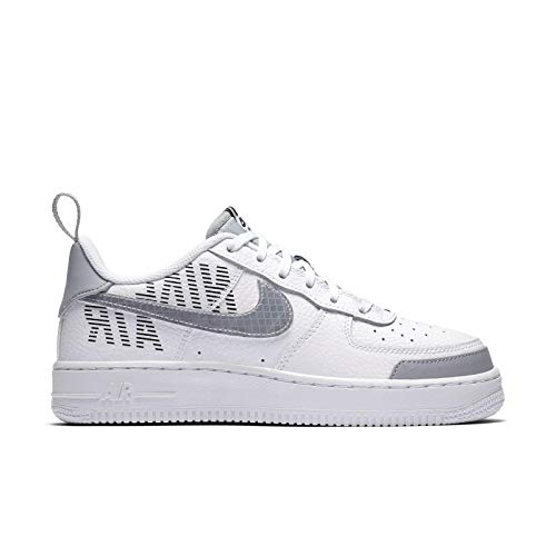 Nike Men's Air Force 1 '07 LV8 2 Casual Shoes (10.5, White/Wolf Grey/Black)