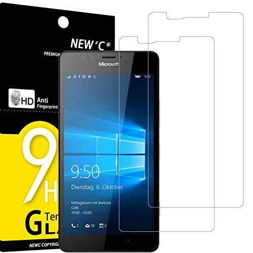 NEW'C 2 Stück, Schutzfolie Panzerglas für Nokia Microsoft Lumia 950, Frei von Kratzern, 9H Festigkeit, HD Bildschirmschutzfolie, 0.33mm Ultra-klar, Ultrawiderstandsfähig