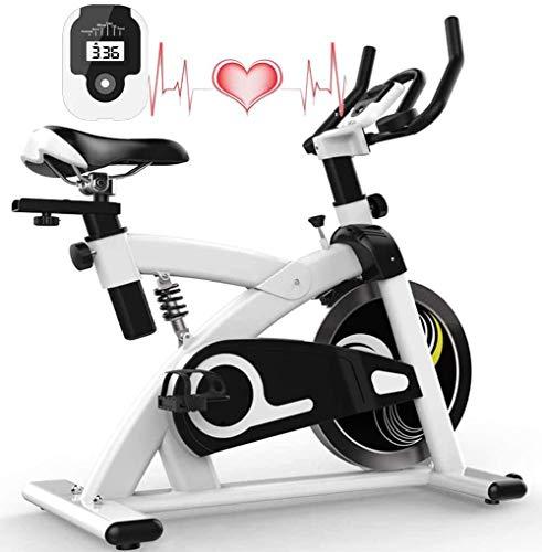 Fahrradtrainer Home Spinning Bike Fahrrad Fitness Fitness Bike Indoor Riemenantrieb leise Einstellbare Sitzhöhen LCD-Anzeige 12 kg Schwungrad Benutzergewicht bis 130kg