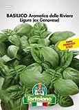 Sementi orticole di qualità l'ortolano in busta termosaldata (160 varietà) (BASILICO AROMATICO DELLA RIVIERA LIGURE (ex Genovese))