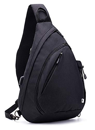 TurnWay Water-Proof Sling Backpack/Crossbody Bag/Shoulder Bag for Travel, Hiking, Cycling, Camping for Women & Men (Black1)