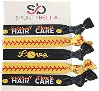 Infinity Collection Softball Hair Accessories, Girls Softball Hair Ties, Perfect Softball Player and Softball Teams