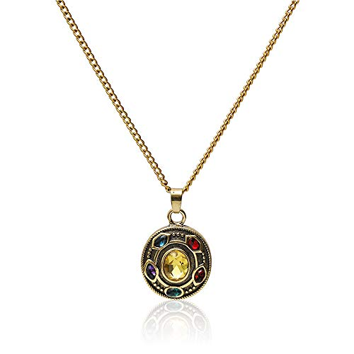 Bifriend-The Avengers Alliance Movies Thanos Charm Pendant Necklace Personalized Zircon Crystal Necklace For Unisex Jewellery Accessories Gift
