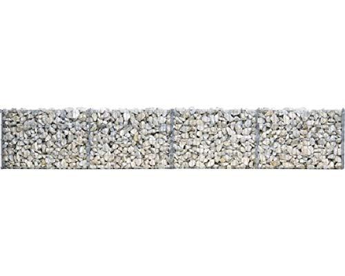 bellissa Gittermauer 232 x 10 x 40 cm Steinkorbmauer Ziergabione Steinmauer