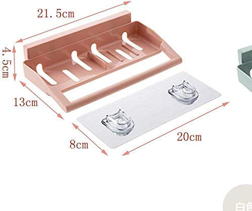 SLINGDA Badkamer plank Plastic Toilet Sinker Elegante Veelzijdige Keuken Sinker Drain Keuken Opslag Organizer Schokvrije Wandplank (Kleur: Roze)