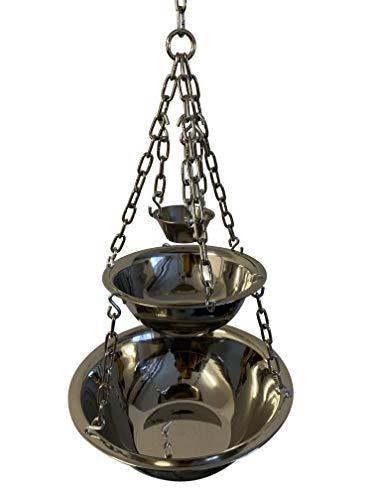 Sauna Zeremonie: Aromaschalen inkl. Verdampferschale aus Edelstahl - Für jeden Saunaofen - 3 Schalen für Aufguss, Mentholkristalle, Kristallsalz! Größe: Midi inkl. Zubehör, Muster: Ohne Zubehör