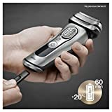 Braun Electric Razor for Men, Series 9 9370cc Electric Shaver With Precision Trimmer, Rechargeable, Wet & Dry Foil Shaver, Clean & Charge Station & Travel Case